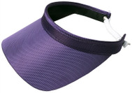 Glove It Ladies Solid Coil Tennis Visors - Purple
