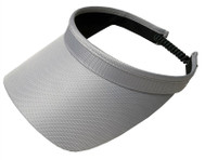 Glove It Ladies Solid Coil Tennis Visors - Grey