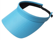 Glove It Ladies Solid Coil Tennis Visors - Turquoise