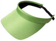 Glove It Ladies Solid Coil Tennis Visors - Lime