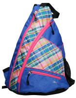 Glove It Ladies Pickleball Sling Bags - Plaid Sorbet