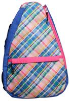 Glove It Ladies Tennis Backpacks - Plaid Sorbet