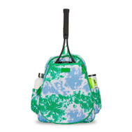 Ame & Lulu Ladies Game On Tennis Backpacks - Green/Blue Tie Dye