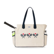 Ame & Lulu Ladies Love All Tennis Court Bags - Crossed Racquets