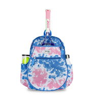 Ame & Lulu Girl's Big Love Tennis Backpacks - Blue/Pink Tie Dye