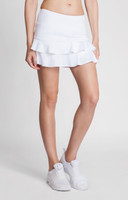 "Tail Ladies & Plus Size Doubles 13.5"" Flounce Tennis Skorts - ESSENTIALS (White)"