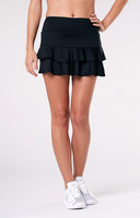 "Tail Ladies & Plus Size Doubles 13.5"" Flounce Tennis Skorts - ESSENTIALS (Black)"