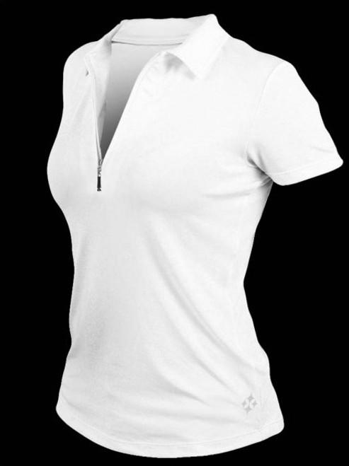 5f4c8f34ba1142 ... JoFit Ladies   Plus Size Jacquard Performance Polo Tennis Shirts - Bali  (White)