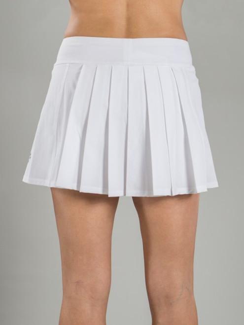 5d95e7864a JoFit Ladies & Plus Size Dash Pleated Tennis Skorts - Cosmopolitan/Bali  (White)