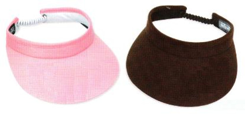"Town Talk 3"" Ladies Tennis Visors with Twist Cord - 18 Colors"