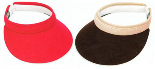 """Town Talk 3"""" Ladies Tennis Visors with Comfort Clip - Assorted Colors"""