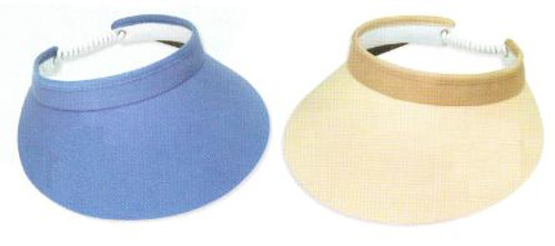 "Town Talk 4"" Ladies Visors with Twist Cord - Assorted Colors"
