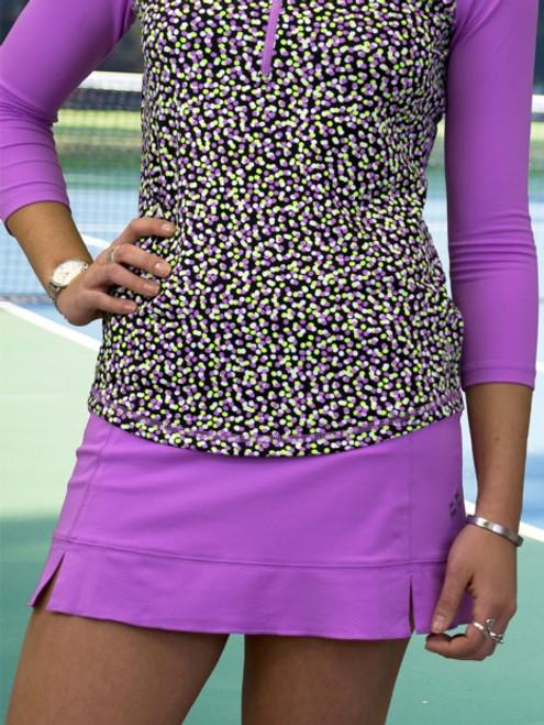 CLEARANCE JoFit Ladies Pearl Tennis Skorts - Sea Breeze Mulberry