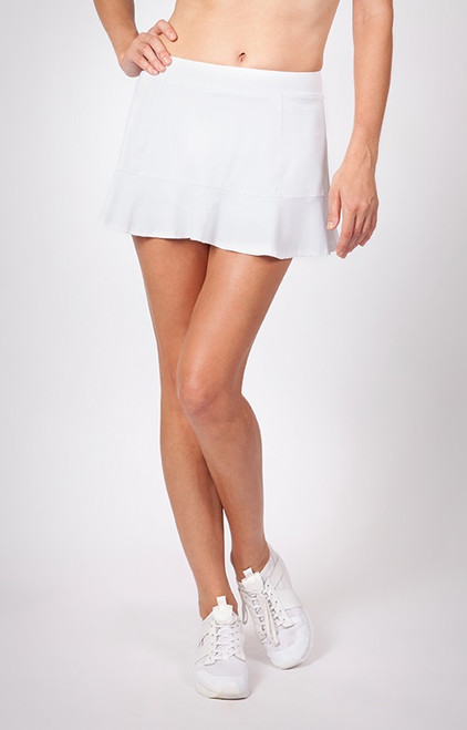 "Tail Ladies & Plus Size Jennifer 12.5"" Flounce Tennis Skorts - ESSENTIALS (White)"