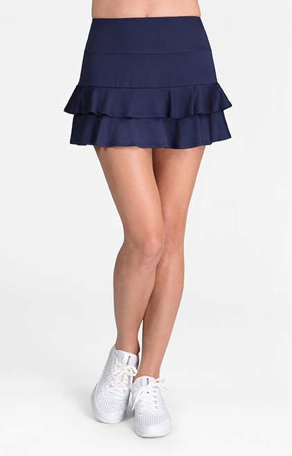 "Tail Ladies & Plus Size Doubles 13.5"" Flounce Tennis Skorts - ESSENTIALS (Navy Blue)"