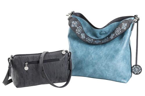 Charcoal and Aquamarine