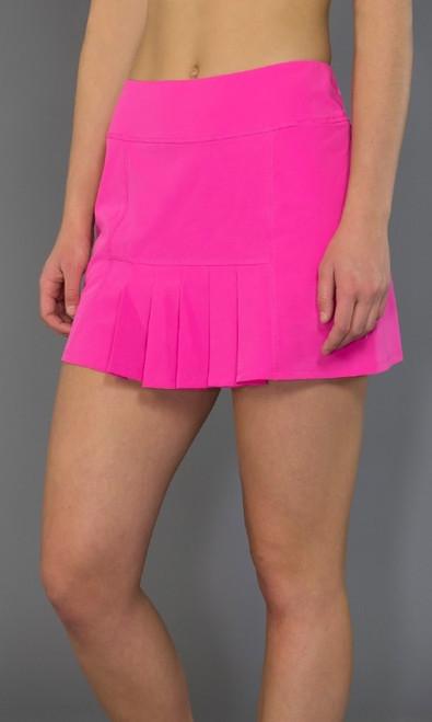 SALE JoFit Ladies Dash Pleated Tennis Skorts (Short) - Napa (Fluorescent Pink)
