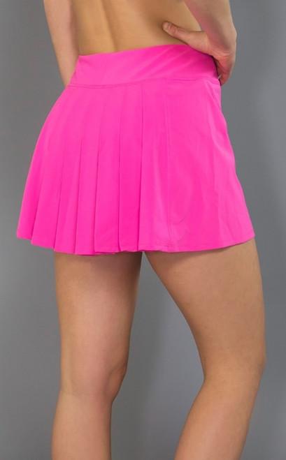 020a2d2291 ... SALE JoFit Ladies Dash Pleated Tennis Skorts (Short) - Napa  (Fluorescent Pink) ...