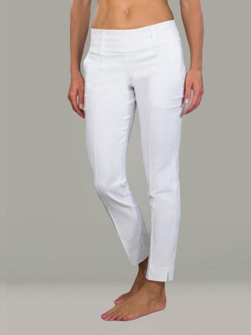 JoFit Ladies & Plus Size Slimmer Cropped Pants - Napa (White)