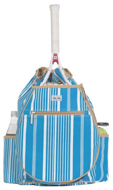 SALE Ame & Lulu Ladies Kingsley Tennis Backpacks - Ticking Stripe