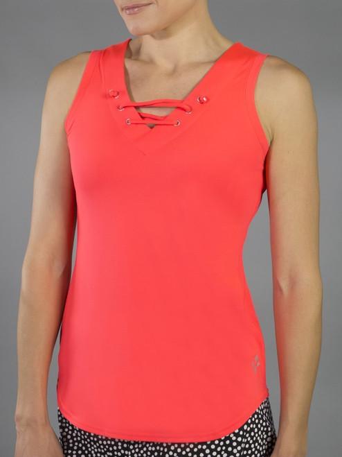 SALE JoFit Ladies Lace- Up Tennis Tank Tops - Daiquiri (Calypso)