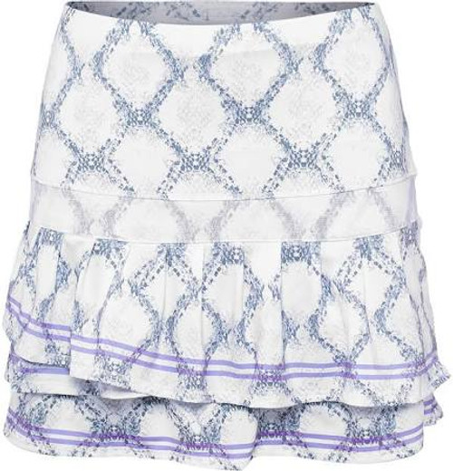 SALE Lucky in Love Ladies Pleated Tier Skirt (with shorties) - Snake Charmer