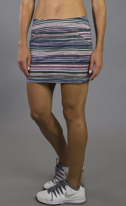 JoFit Ladies Mina (Short) Tennis Skorts - Paloma (Aurora Stripe)