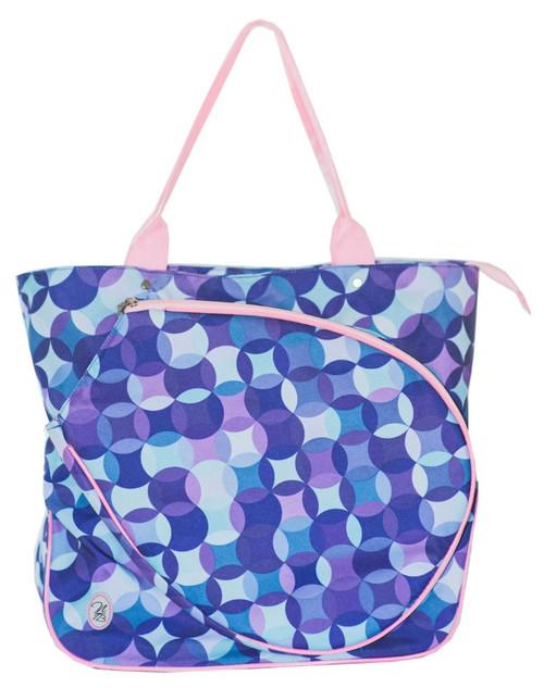 NTB Ladies Tennis Tote Bag - Tessa (Pink & Purple Bubbles)