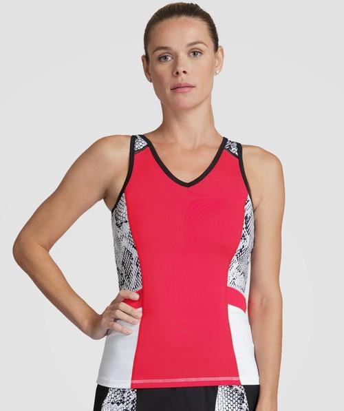 SALE Tail Ladies & Plus Size Alicia Tennis Tank Tops - Red Hot (Aurora)
