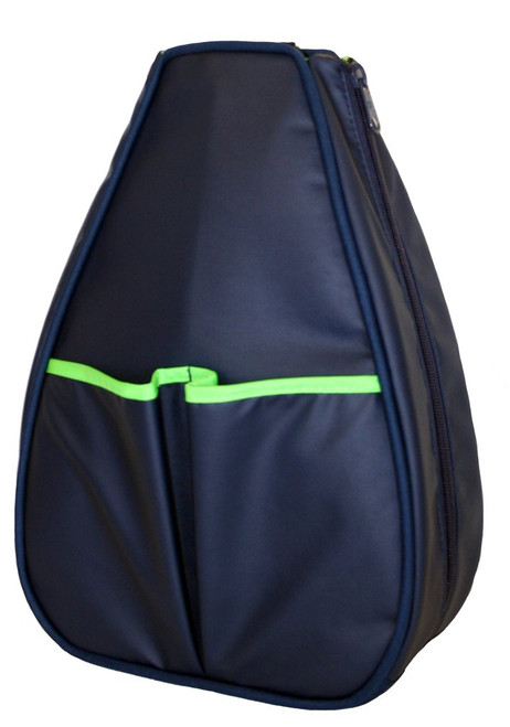 40 Love Courture Ladies Sophi Tennis Backpacks - Navy Faux with Lime Green Lining