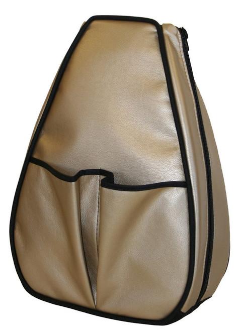 40 Love Courture Ladies Sophi Tennis Backpacks - Golden Bronze with Black Lining