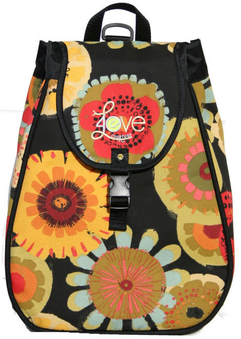 40 Love Courture Ladies Maddie Tennis Backpacks - Tuscon Flower with Black Lining