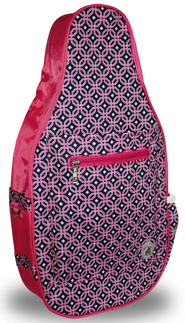 NTB Ladies Pickleball Bags - Sydney (Pink & Navy Knot)