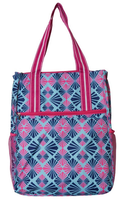 All For Color Ladies Tennis Shoulder Bags - Summer Rays (Pink & Navy)