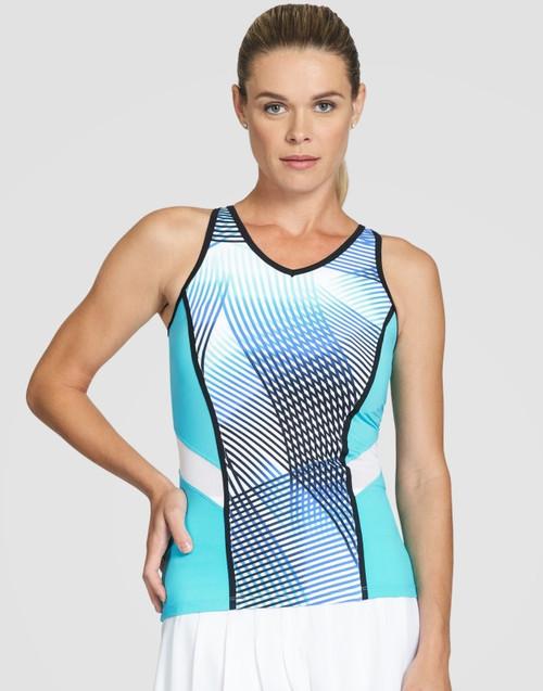 Tail Ladies Oneida Sleeveless Tennis Tank Tops - VELOCITY (Velocity Print)