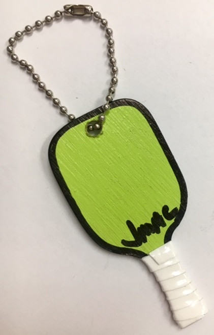 J.Mac Handmade Pickleball Paddle Keychain - Lime Green