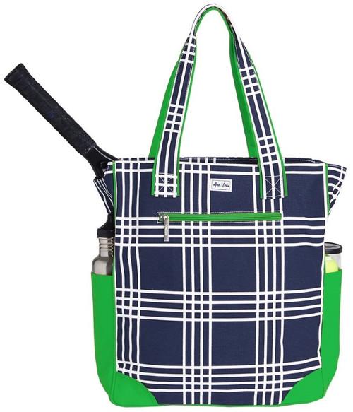 Ame & Lulu Ladies Emerson Tennis Tote Bags - Parker Plaid
