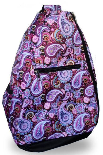 NTB Ladies Tennis Backpack - Bella (Black Paisley)