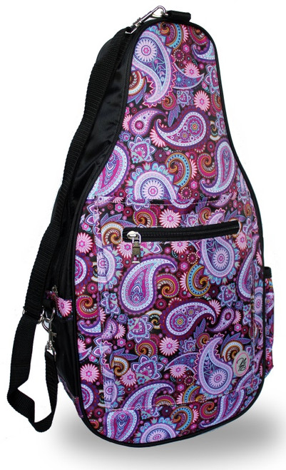 NTB Ladies Pickleball Bags - Brynn (Black Paisley)