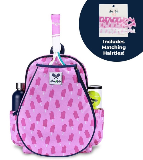 Ame & Lulu Ladies Little Love Tennis Backpacks - Purple Pops