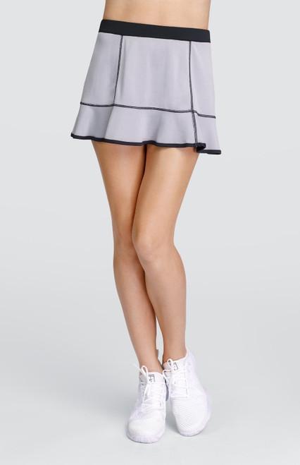 "Tail Ladies Leanna 12.5"" Reversible Pull On Tennis Skorts - ESSENTIALS (Black and Heather)"