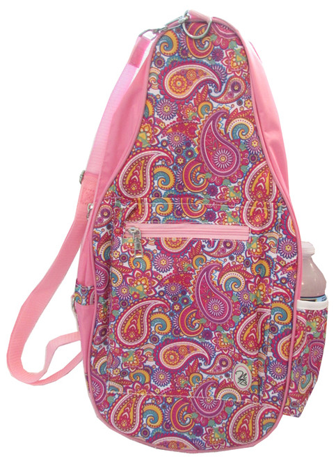 NTB Ladies Pickleball Bags - Ainsley (Pink Paisley with Light Pink)