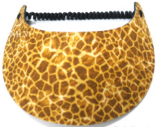 Miracle Lace Ladies Tennis Visors - Giraffe (Animal Prints)
