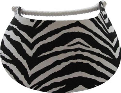 Miracle Lace Ladies Tennis Visors - Zebra (Black/White)