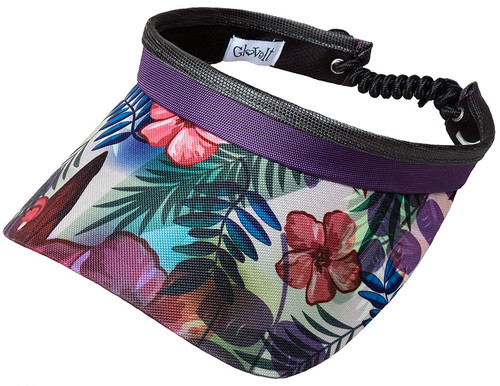 Glove It Ladies Print Tennis Visors (w/ Twist Cord) - Tropical
