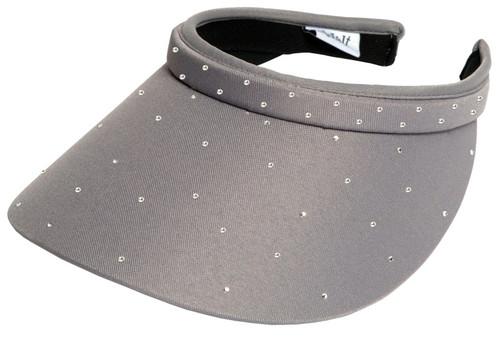 Glove It Ladies Bling Tennis Visors (Comfort Clip) - Grey Bling Slide On