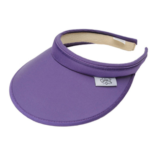 Glove It Ladies Solid Tennis Visors (Comfort Clip) - Solid Purple