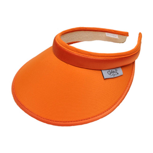 Glove It Ladies Solid Tennis Visors (Comfort Clip) - Solid Orange