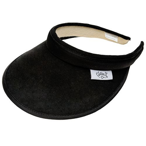 Glove It Ladies Solid Tennis Visors (Comfort Clip) - Solid Black