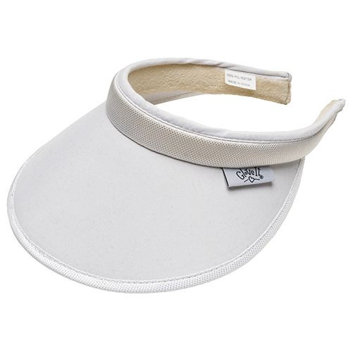 Glove It Ladies Solid Tennis Visors (Comfort Clip) - Solid White
